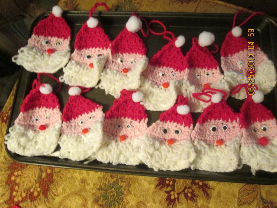 I am willing to sell these to anyone who wants them before the sale!!-santa-ornaments-jpg