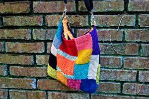 A crochet bag