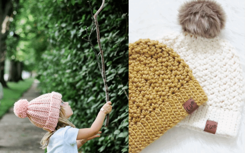 crochet hat header